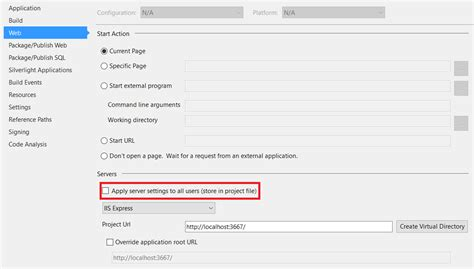 reset settings in visual studio 2015 visual studio 2015 resetting web project to use iis