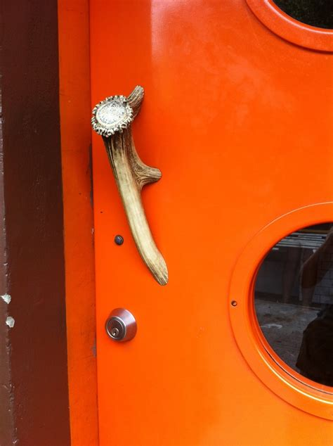 Antler Door Handles - antler door handle interior inspiration