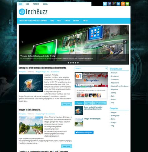 blogspot themes tech 30 best seo blog templates free premium themes free
