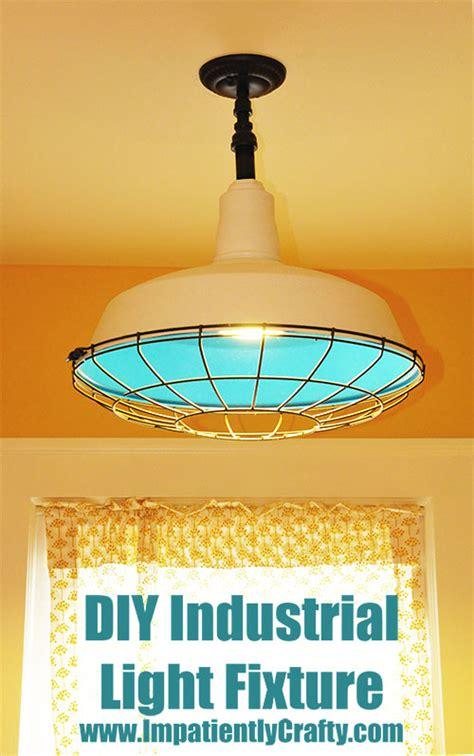 Diy Industrial Light Fixture My Kitchen Nook Diy Upcycled Industrial Light Fixture