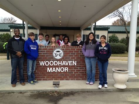 dms ambassadors deliver socks to woodhaven