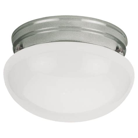 Brushed Nickel Lighting Fixtures Sea Gull Lighting 1 Light Brushed Nickel Incandescent Ceiling Fixture The Home Depot Canada