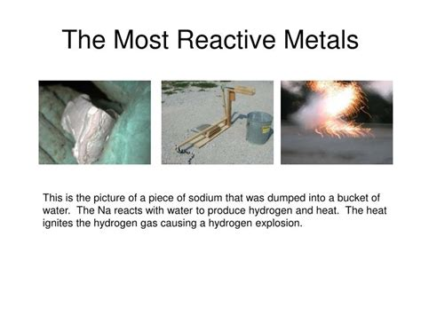 Where Are The Most Reactive Elements On The Periodic Table ppt the periodic table powerpoint presentation id 5880953