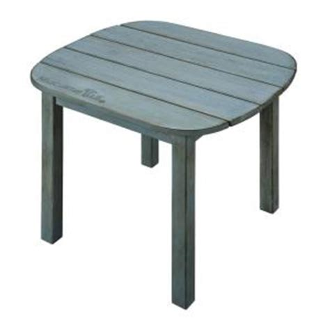 margaritaville outdoor wood side table in blue margaritaville wood carved weathered blue patio side table