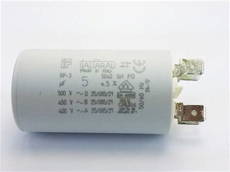 italfarad motor capacitors 5uf 400v 450v 500v motor run capacitor italfarad rp 3 series