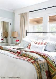 Guest Bedroom Window Treatment Ideas Placing Your Bed In Front Of A Window Bungalow Home