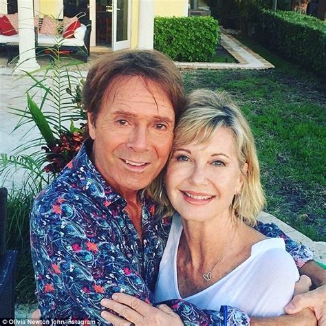 olivia newton john and cliff richard olivia newton john reunites with cliff richard daily