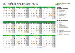 Calendario 2018 Feriados Nacionais Calend 193 2018 Para Imprimir Feriados