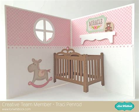 crib card template lori whitlock pop up baby crib card tutorial with