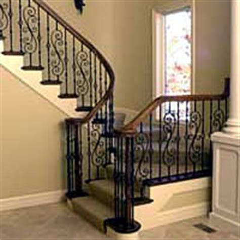 Contemporary Banister Rails Fitts Baluster Wrought Iron Curtis Lumber Co Inc