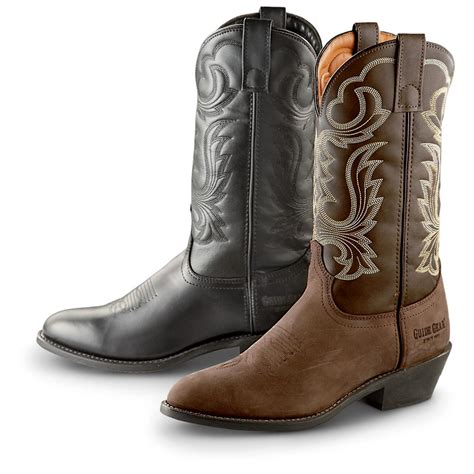 mens used cowboy boots guide gear s 12 quot cowboy boots 223925 cowboy