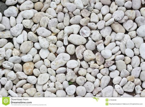 White Rocks For Garden White Stones And Pebble Background Stock Photo Image 47353038