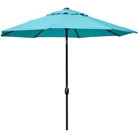 Outdoor Patio Umbrellas 9 Ft Outdoor Patio Market Table Umbrella With Push Button Tilt And Crank Ebay