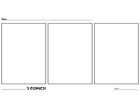 blank comic template hijinks ensue kid s comics templates i made some