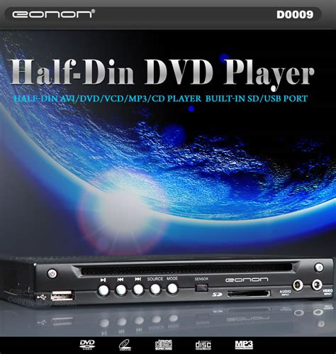 In Car Dvd Player With Usb Port by Half Din In Dash Car Dvd Player With Built In Sd Usb Port