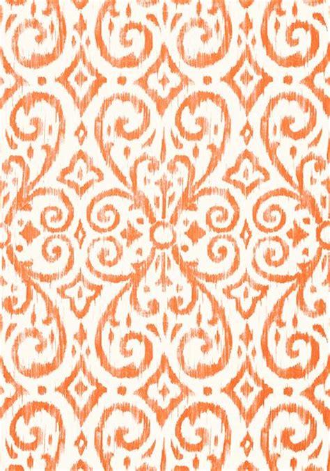 pinterest thibaut wallpaper patara ikat wallpaper in coral from the caravan