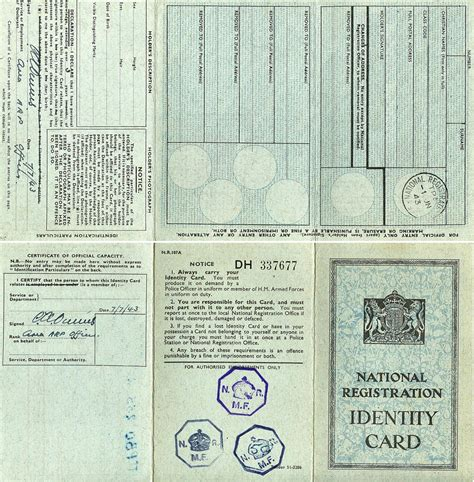 national id card template wwiireenacting co uk forums view topic national