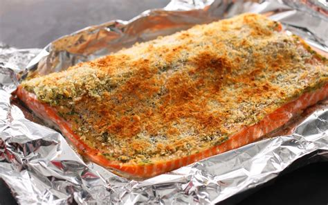 salmon in oven basic baked breaded salmon recipe chowhound