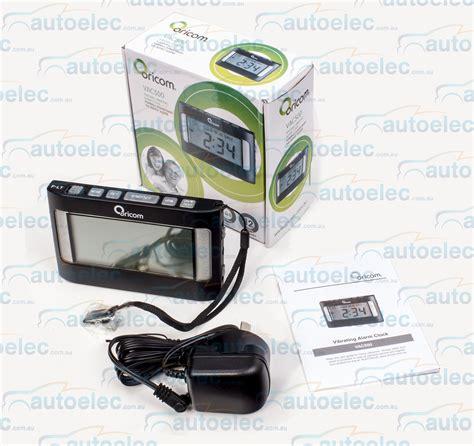 oricom heavy sleeper portable digital lcd clock vibrating
