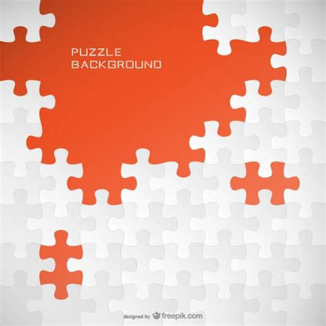 puzzle design elements vector jigsaw background template vector free download