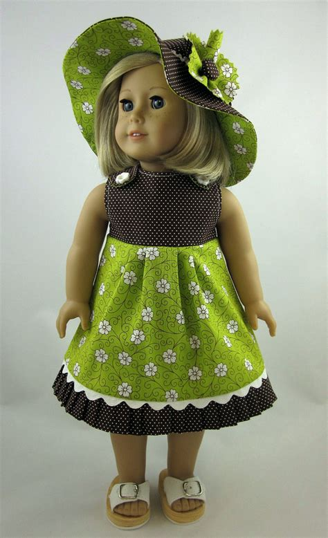 Wardrobe For Dolls Clothes 18 Inch 18 inch doll clothes sundress and hat in by sewmygoodnessshop