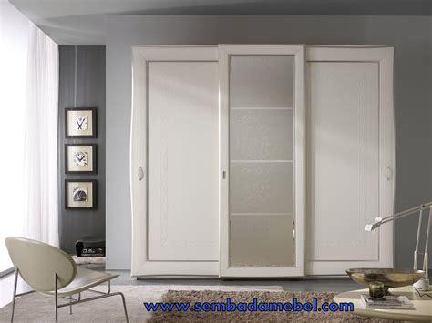 Lemari Design Klasick lemari baju geser 3 pintu minimalis sembada mebel ukir