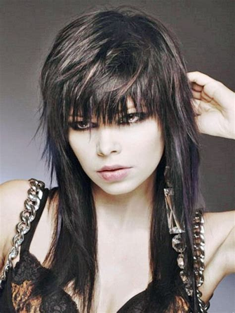 edgy haircuts with bangs long hair funky edgy medium length hairstyle ideas for women elle