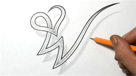 w tattoo designs drawing letter w combined with a design
