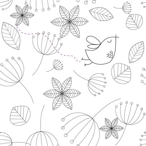 flower doodle free bird and flowers doodle free stock photo domain