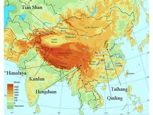 mountain ranges map mountain ranges in asia images