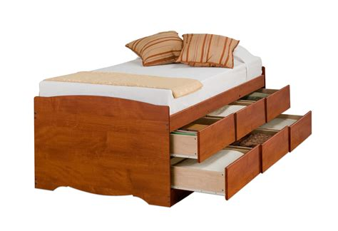 twin captain bed with storage prepac cherry tall twin captain s platform storage bed