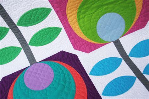 flower power quilt kit by swirly designs
