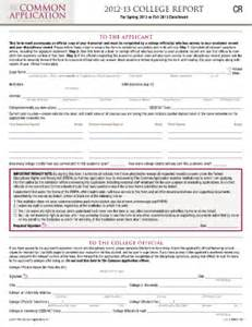 generic college application form fill printable