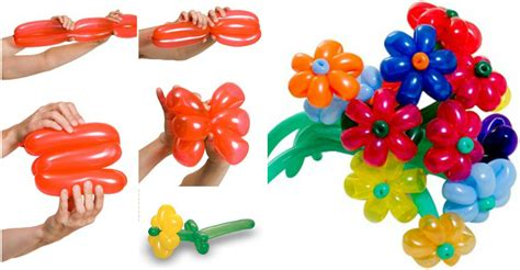 make balloon flower bouquet how to instructions