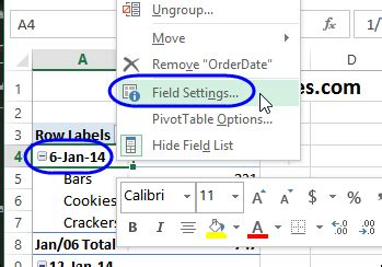 format date field in excel format date field subtotals excel pivot tablesexcel
