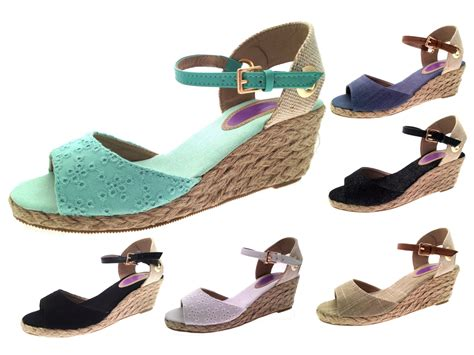 shoes for in summer womens strappy peeptoe hessian wedge sandals summer