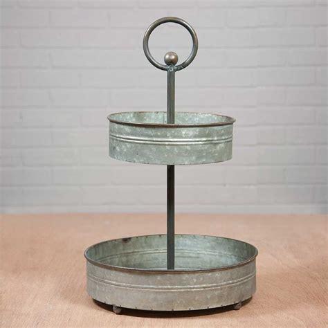 round rustic cupcake stand galvanized metal 3 tiered ebay