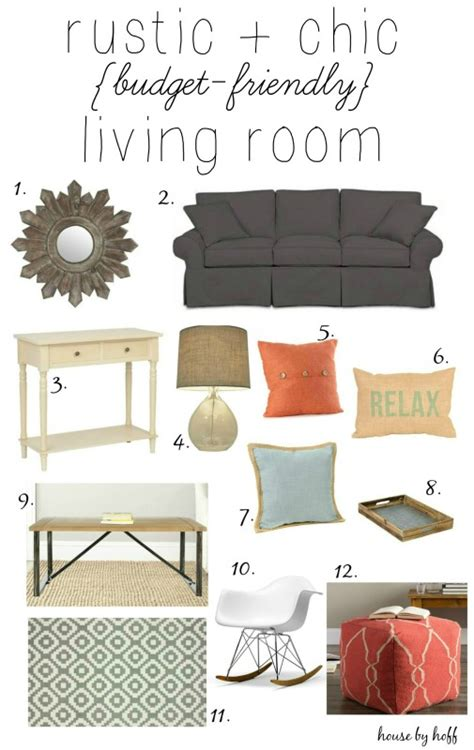 rustic chic budget friendly living room inspiration house by hoff