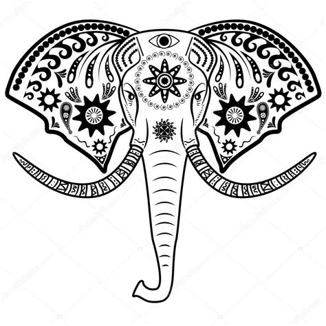 Indian Elephant Head Drawing | www.pixshark.com - Images ...