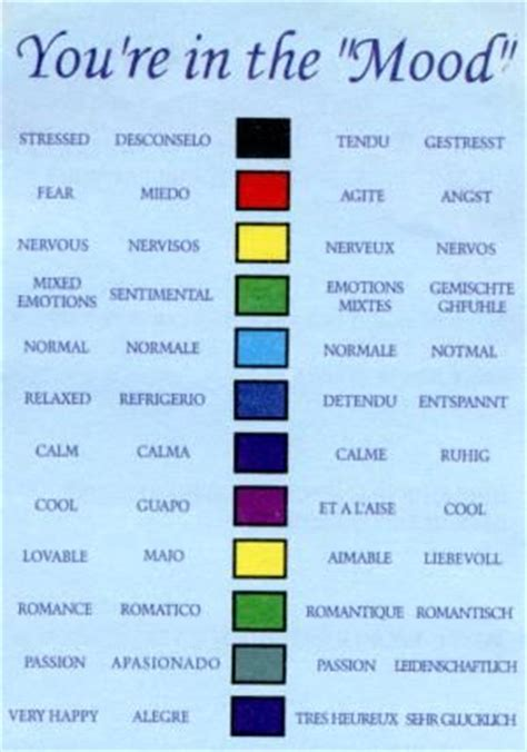 mood color meaning the colors of flowers and their meanings did you a mood ring your mood