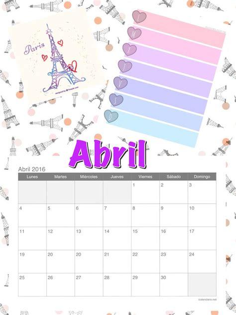 Calendario Lunar 2017 Abril 17 Melhores Ideias Sobre Calendario Abril 2016 No