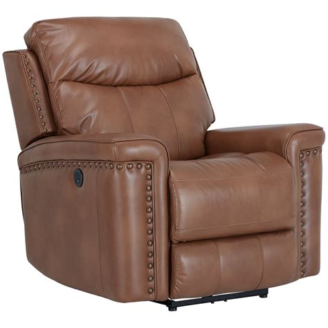 Microfiber Recliner by City Furniture Wallace Medium Brown Microfiber Power Recliner