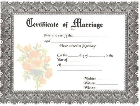 blank marriage certificate template blank marriage certificate jimmie joe and sue