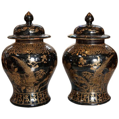 chinese ginger jars chinese mirror black ginger jars for sale at 1stdibs