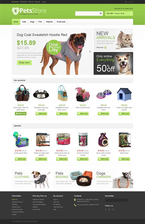 magento themes pet store cute looking animal and pet store magento themes