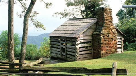 Cabin Parkway log cabin blue ridge parkway virginia wallpaper