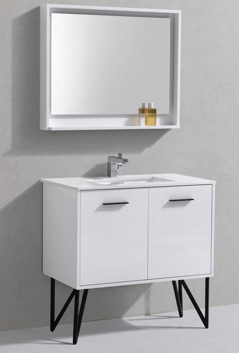36 inch high bathroom vanity 36 inch high gloss white bathroom vanity with quartz