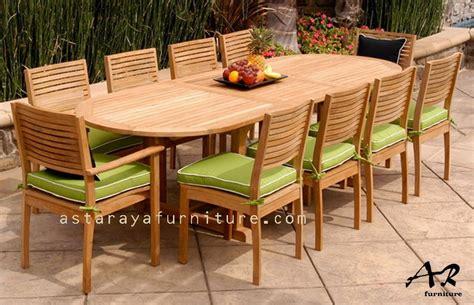 Meja Makan Outdoor set meja makan kayu jati semi outdoor asta raya
