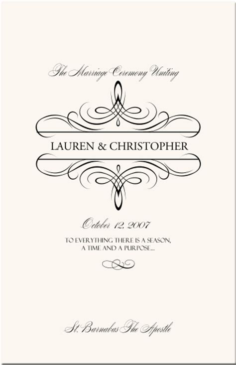 Wedding Border Symbol Fonts by Flourish Monogram Wedding Programs Custom Monogram Designs