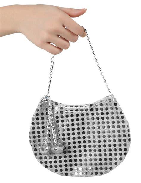 handtasche kostuemzubehoer disco silber guenstige faschings